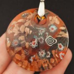 Jewelry Brown Millefiori
